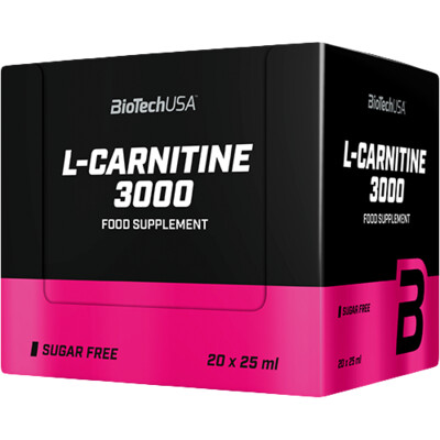 BioTech USA L-Carnitine Ampule 3000 mg 20 x 25 ml