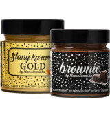 Big Boy Slaný karamel GOLD 250 g + Brownie @mamadomisha 250 g