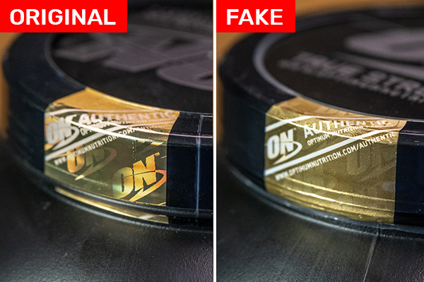 Optimum Nutrition Gold Standard Whey FAKE vs ORIGINAL hologram
