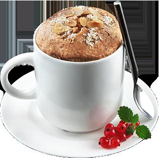 hrnčekový koláč s vysokým obsahom bielkovín bez pridaného cukru od Biotech USA