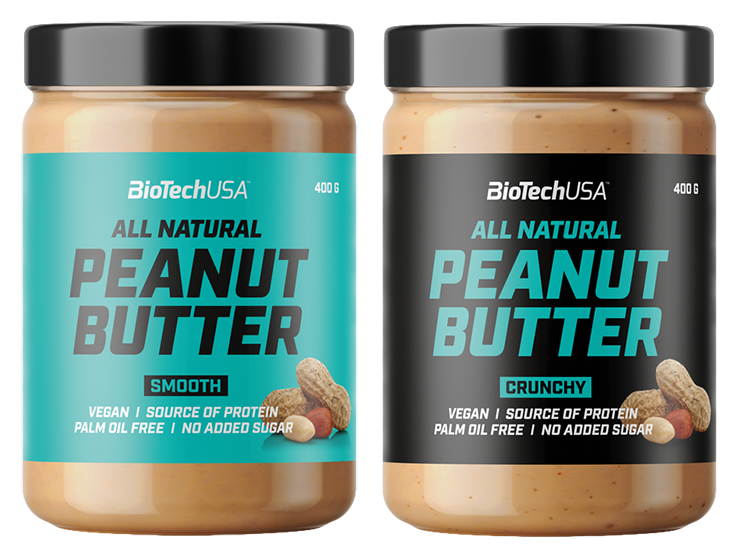 Biotech USA Arašidové maslo Smooth Crunchy 400 g